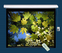 Wholesale FedEx electric screen motorized projection screen remote control
