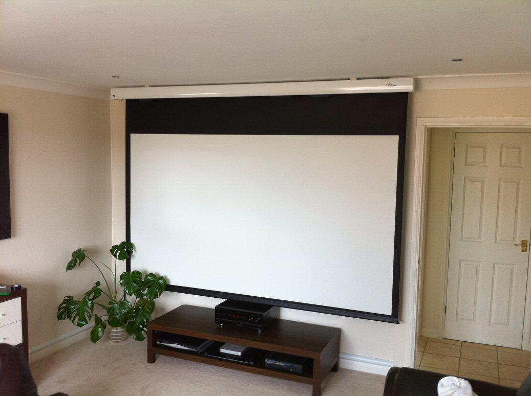 Image gallery motorized projector screen for Elite motorized projector screen