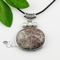 Wholesale amethyst freshwater pearl silver stone jewelry natural stone necklace pendants Cheap fashion jewelry Spsp1061TC3