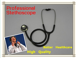 Wholesale High quality Professional deluxe single head medical stethscope with free Accessory box