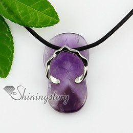 amethyst turquoise rose quartz agate stone necklace semi precious stones jewellery Spsp1086TC0 semi precious stone jewelry