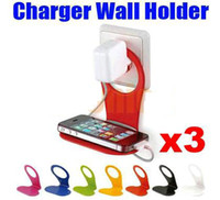 Wholesale Cell Phone Holder Hang Wall Charger Cable Organizer For iPhone S