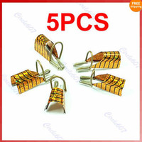 Cheap 5pcs set Special Reusable Nail Forms UV Gel Acrylic French Tips Art Gold