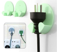 Wholesale 2 Adhesive Plug Holder Electrical Hanger Organizer Wire Hooks Connector