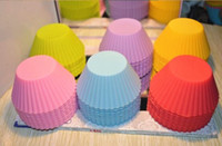 Wholesale by EMS Cake colorful Mold Cupcake soft Silicone Rubber Mold Xmas gift