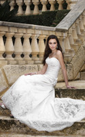 Reference Images Sweetheart Elastic Satin Fashionable Sweetheart Stretch Satin Floor-length Lace Ruched Lace-up Spring Autumn Wedding Dress