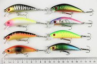 Wholesale 70mm Fishing lure pc fishing minnow plastic Fishing boat tackle Minnow CM G Japan hook r