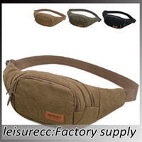 Wholesale Outdoor Bags Trendy Waist Bag Jean Solid Color Canvas Men Women Leisure Summer Outdoor Waist Pack Bag color HW0228