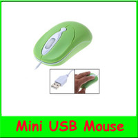 Wholesale 800DPI Computer Mini USB Optical Scroll Wheel Mouse For Desktop PC Laptop