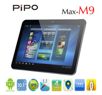 Wholesale 10 inch RK3188 Quad Core Android OS GB DDR3 GB WiFi Bluetooth Dual Camera Pipo M9 Tablet PC