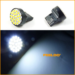 Wholesale 50pcs White Car T20 LED SMD Tail Brake Turn LED Light Bulbs easy to install