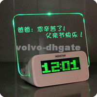 Wholesale LCD Message Board Alarm Clock Fashion Electronic Screen Message Board Alarm Clock DKHA481