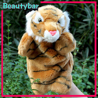Unisex 5-7 Years as the photos  Plush toy puppet toy parent-child Large tiger plush story telling infant doll gift