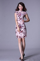 Cheap 2013 spring fashion vintage silk embroidery sexy cheongsam toast clothing slim for lady 7 size