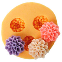 Wholesale F0032 silicone mini flower molds Diy silicone mold resin clays Polymer Clay cake decoration molds