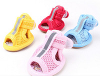 Wholesale Summer pet clothes pets sandals mesh Velcro sandals shoes for dog