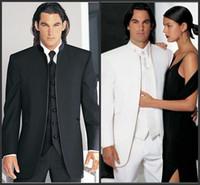Cheap Reference Images Groom Tuxedos Best Wool Blend Regular Groomsmen