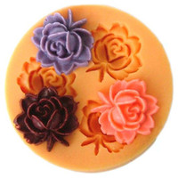 Wholesale F0033 silicone mini flower molds Diy silicone mold resin clays Polymer Clay cake decoration molds
