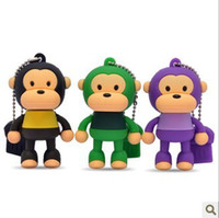 Wholesale Real Capacity GB GB Monkey Cartoon USB Flash Memory Drives Stick Pendrives Thumbdrives