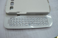 Wholesale Slide Sliding Wireless Bluetooth Keyboard Case for Samsung Galaxy S3 SIII i9300 Black White