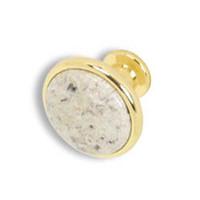 Wholesale stone knob knob12 Polished Brass cabinet knob