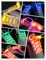 Wholesale 10pcs pair LED Flashing Shoelace Light up Shoe Laces Laser Shoelaces Fashionable Jump Change
