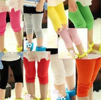 Leggings & Tights Girl Spring / Autumn 100% Cotton Baby girls Candy leggings summer children kids tight pants kid tights trousers legging