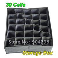 Wholesale 30 CellS Bamboo Charcoal Underwear Ties Socks Drawer Closet Organizer Storage Box