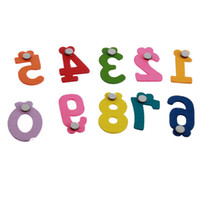 Wholesale New set Wooden Refrigerator fridge magnet sticker Number Set for baby Education Learn free shi