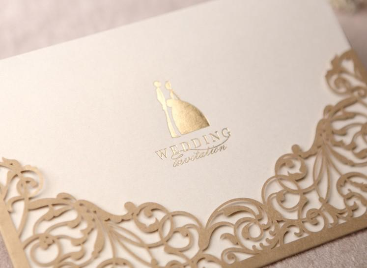 Charming Champagne Pattern Wedding Invitations Wedding Cards