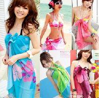 Plain beautiful peaches - Sexy Pareo Dress Sarong Bikini Cover Up Scarf Wrap Swim swimwear Beach Beautiful Charming