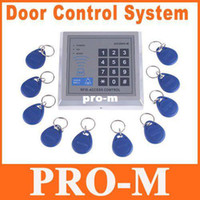 Wholesale RFID Proximity Entry Door Lock Access Control System with Key Fobs freeshipping Dropshipping