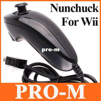 Wholesale 5pcs White Black Red Rose Blue Darkblue Nunchuk For Nintendo Wii F881