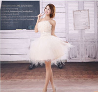 Model Pictures ball dr - 2015 new wedding dress multicolor Korean wedding dresses Puff Bra princess skirt dress bridesmaid dr