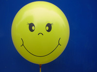 Wholesale Happy Smile Latex Free Balloon Yellow Balloon For Kids Party