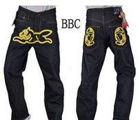 Wholesale Top quality Trukfit DEEP LRG CROOKS BBC Lover s Man s Man HipHop Jean Jeans HIPA Hip Hop