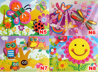 Wholesale DHL EVA D stereo sticker puzzle children sponge painting handmade style