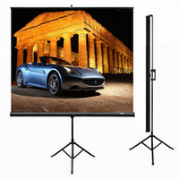 Wholesale Top Quality quot inch Matt White video format tripod screen portable tripod projection screen