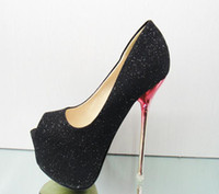 Wholesale 2012 the fish mouth shoes CM sexy high heels Single shoes