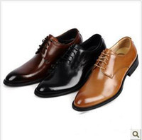 Men Loafers  Flat Heel 2013 British euro style concise air leather dress shoes authentic office men business leather shoes