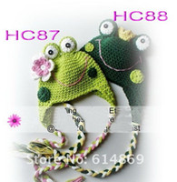 Wholesale 20pcs Toddler Baby Girls Boys Hat panda Animal Crochet Winter Hand Knitted Beanie Beret