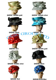 Wholesale All Year Around Church Dress Formal Hat Kentucky Derby Hat hair fascinator with Rhinestones band