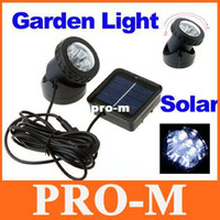 Wholesale Outdoor Solar Powered LED Spotlight Garden Pool Waterproof Spot Light Lamp Freeshipping Dropshipping