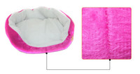 Wholesale Wholesales Large Pet Dog Nest Puppy Cat Soft Bed Fleece Warm House Kennel Plush Mat Round
