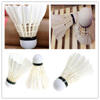 Wholesale Training White Goose Feather Shuttlecocks Birdies Badminton Ball Game Sport