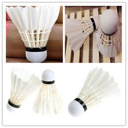 Training White Goose Feather Shuttlecocks Birdies Badminton Ball Game Sport 70 speed