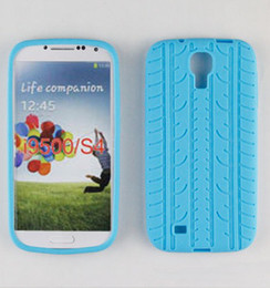 Wholesale 100 soft tyre tire track Silicone Rubber back Case Cover Cases for SamSung Galaxy S4 i9500