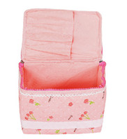 Wholesale Happy fish pink cherry series high quality non woven fabric cosmetic bag with cover