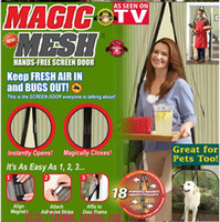 Wholesale Magic Mesh magnetic screen cover curtain fresh air to prevent pests