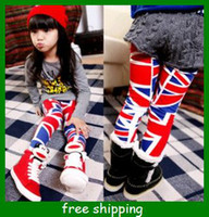 Christmas Girl 2T-3T Children autumn girls cute flag pattern leggings trousers hot baby clothes kids gifts free shipping